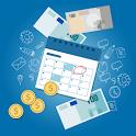 Payday loans guide: cash advance, paycheck advance icon
