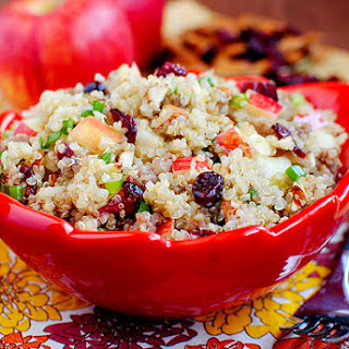 Apple Almond Quinoa with Maple Sausage.