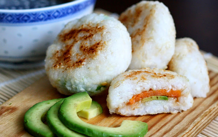 Yaki Onigiri With Sweet Potato and Avocado Filling [Vegan, Gluten-Free ...