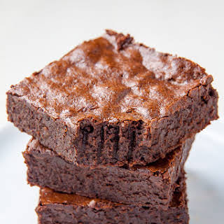 Healthier Flourless Fudge Brownies.