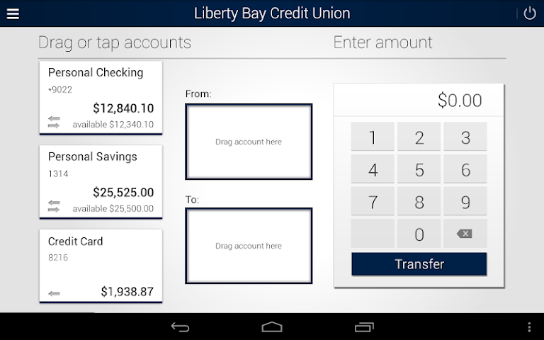 android Liberty Bay Credit Union Screenshot 7