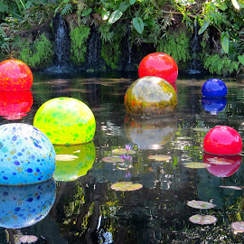 Glass Bubbles on the Water by Michael Villecco - Artistic Objects Glass (  )