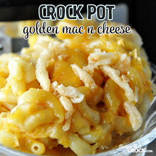 Crock Pot Golden Mac n Cheese.