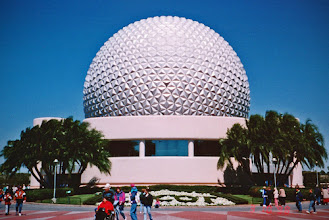 Photo: Back in the 90's, Epcot looked much different. I took this on a beautiful morning on Spring Break. This is actually a scan of the printed photo from the trip.