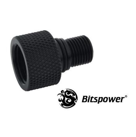 """Bitspower adapter til Eheim pumpe, 1/8""""BSP til 1/4""""BSP, Matt Black"""