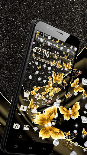 golden butterfly diamond gravity theme screenshot 2