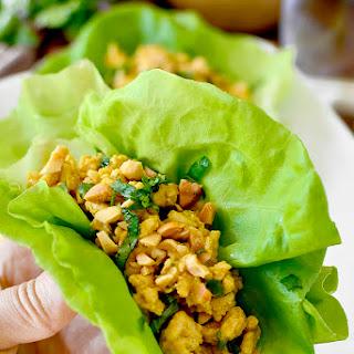 Chicken Satay Lettuce Wraps.