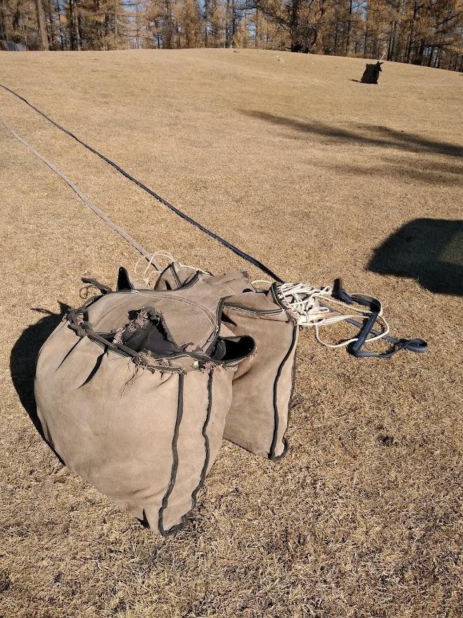 馬に乗せる用の袋