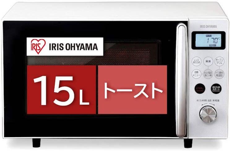 アイリスオーヤマ オーブンレンジMO-T1501-W