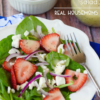 Strawberry Feta Salad with Light Lemon Poppyseed Dressing