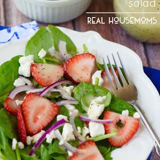 Strawberry Feta Salad with Light Lemon Poppyseed Dressing.