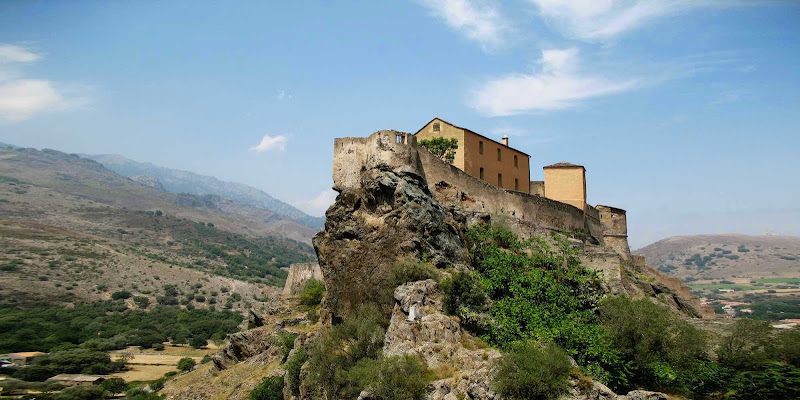 Citadelle de Corte (The Fortress of Corte), in the historic capital of Corsica. Corte is the only fortress in the interior of the island.