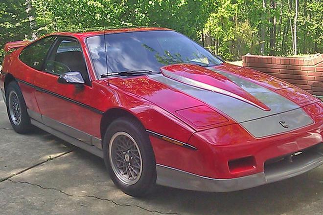 Beautiful 1986 Red Pontiac Fiero GT Hire Alabama