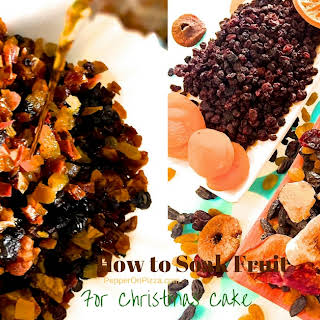 How to Soak Fruits for Christmas Cake.