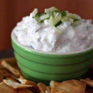Cucumber and Feta Greek Yogurt Dip.