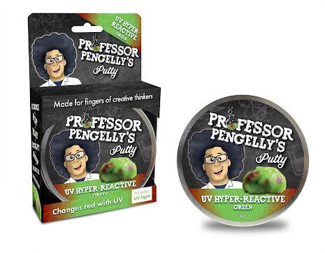 Professor Pengelly's Putty - U.V Hyper Reactive Green