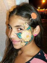 Photo: Cheek art face painting by Sofia, San Bernardino, Ca 888-750-7024