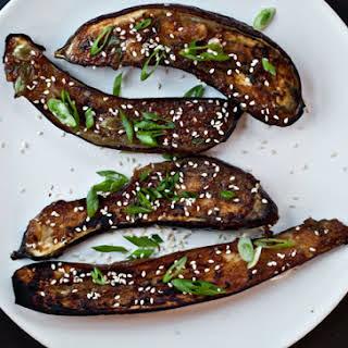 Ginger-Miso-Glazed Eggplant.