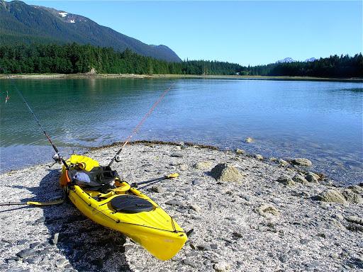 Kayak-near-Juneau - A kayak near Juneau, Alaska.