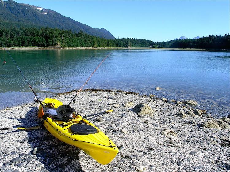 A kayak near Juneau, Alaska.