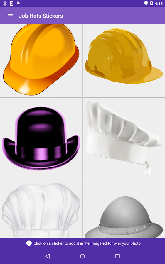 Job Hats Stickers- screenshot