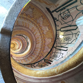 Spiral staircase by Vicki Clemerson - Buildings & Architecture Architectural Detail ( railing, stairs, spiral staircase, staircase, melk abbey, spiral, steps,  )