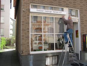 Photo: Ein neues Schild an der Heimatstube