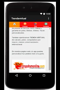 Tienda Virtual - náhled