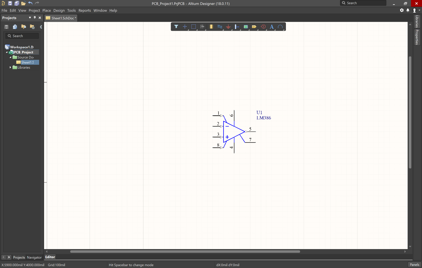 Picture of IC in schematic in Altium
