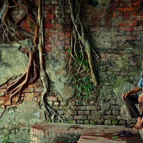 ROOTS OF WISDOM by Sayan Bhattacharya - People Fine Art