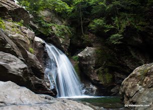 Photo: Bingham Falls can be visited while camping at Smugglers Notch State Park by Tara Schatz