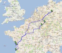 Photo: Die Tour, 3600km, etwas mehr als 14 Tage...