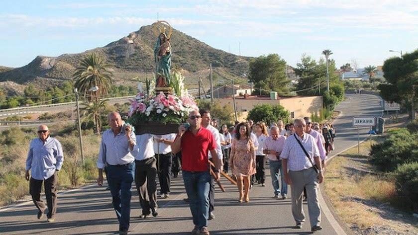 Procesión de la Virgen del Pilar, en una imagen de archivo.