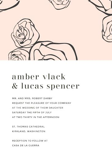 Amber & Lucas' Wedding - Wedding Invitation template