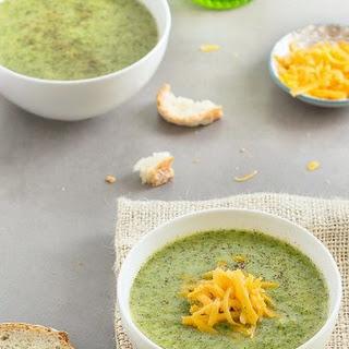 Lightened-Up Broccoli Cheddar Soup