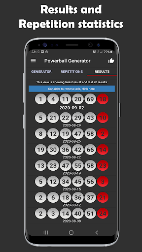 Powerball Generator - Boost probability to win! 1.0.0 screenshots 2