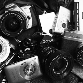 Years of Gear by Nicolas Los Baños - Artistic Objects Still Life ( canon, pwcstilllife-dq, camera, kodak, antique, photography,  )