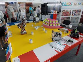 Photo: На стенде представлены задания этапа конкурса Евробот. Хотя не lego, и то радует...