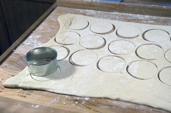 Cut the dough into 2.5-inch (6cm) circles.