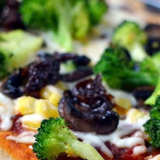 California Veggie Pizza Recipe on Whole wheat Crust
