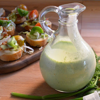 Dill Buttermilk Salad Dressing.