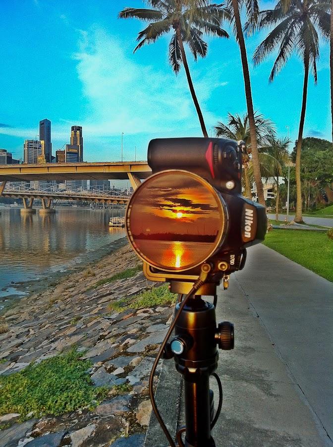 Sunrise reflection by Edward Adios - Instagram & Mobile iPhone