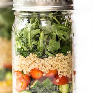 Chickpea & Quinoa Mason Jar Salad.