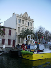 Photo: Fishing boat and a very pretty building