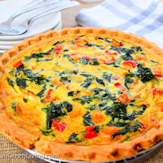 Spinach and Sweet Peppers Pie.