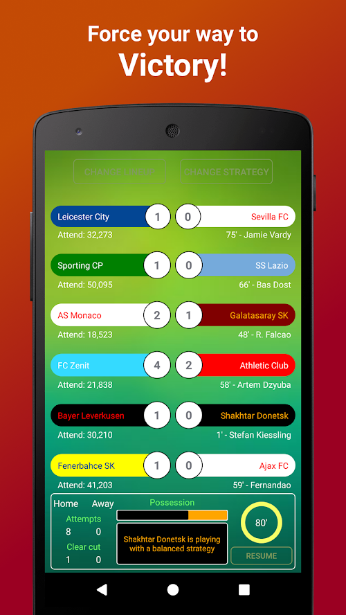 Screenshot 3 Be the Manager 2018 - Football Strategy 2.2.3 APK MOD