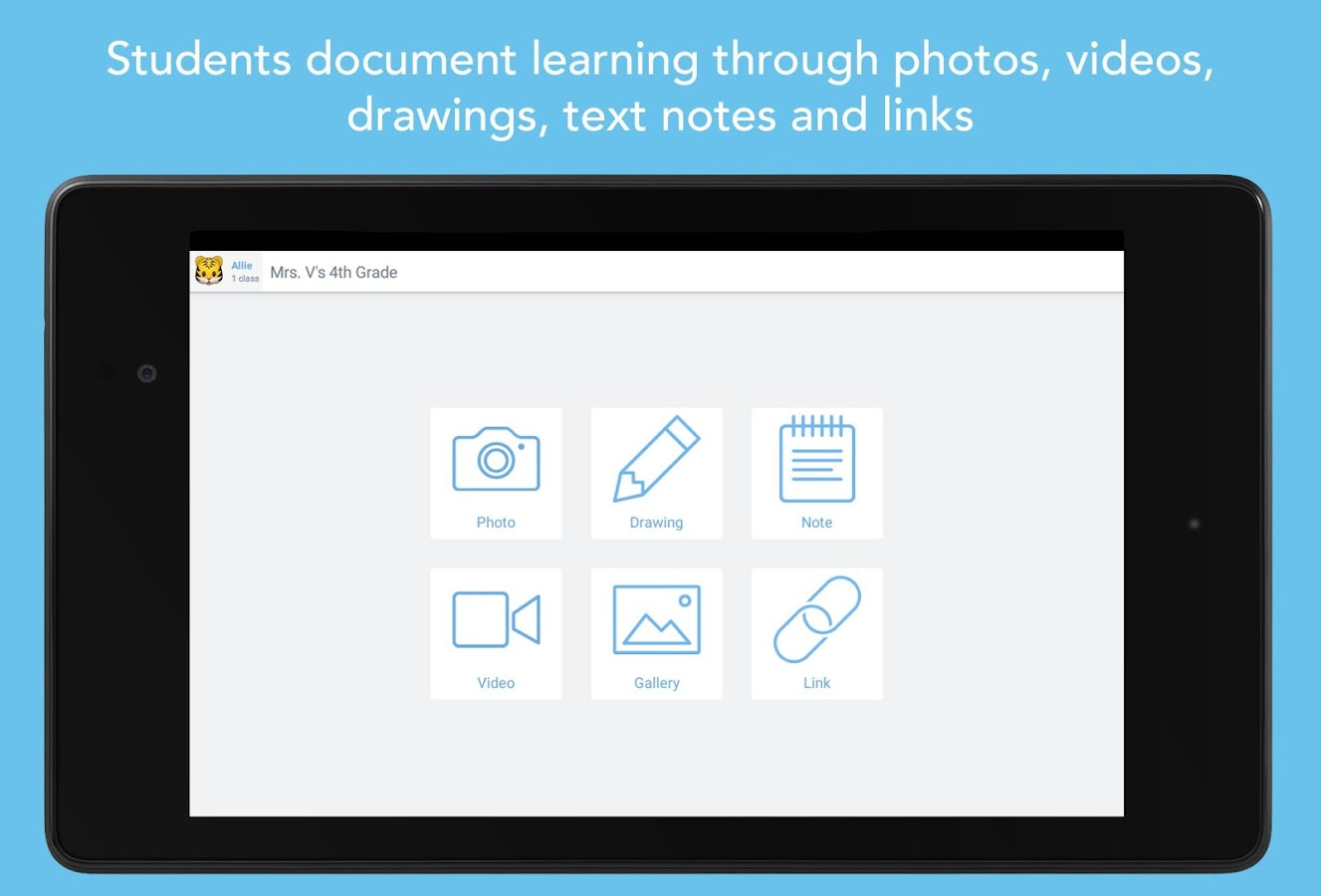 Seesaw: The Learning Journal – Capture d'écran