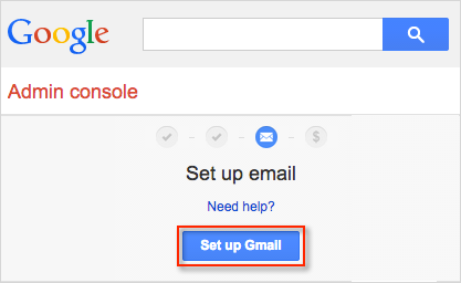 Set up Gmail button