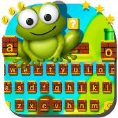 Super Frog Brick Jumping Game Keyboard Theme