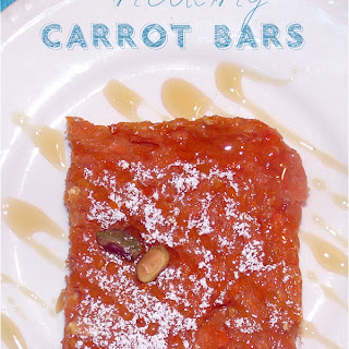 Healthy Carrot Bars